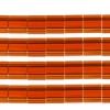 Miyuki Tila Beads 5X5mm 2 Hole Dark Amber Transparent
